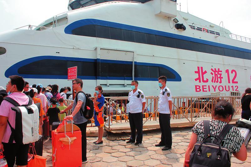 """""""北海—涠洲岛""""客运航线停航两天 岛上2万余名游客安全疏运返城"""