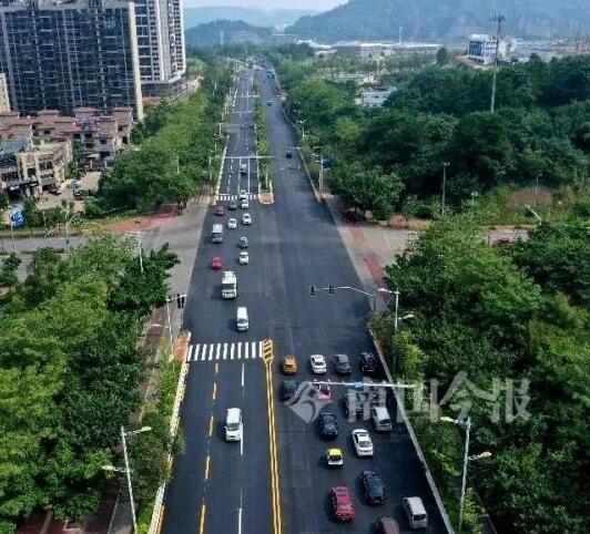 柳州这条大道旧貌换新颜!行车舒适度大大提高
