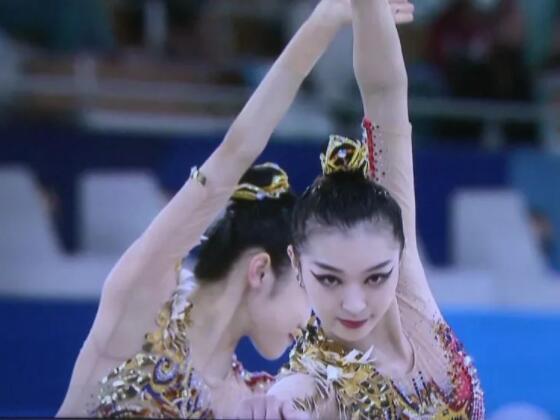 这位桂林姑娘与队友获奥运会艺术体操团体全能第4名